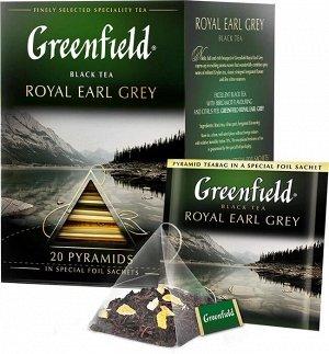 Черный чай в пирамидках Greenfield Royal Earl Grey, 20 шт