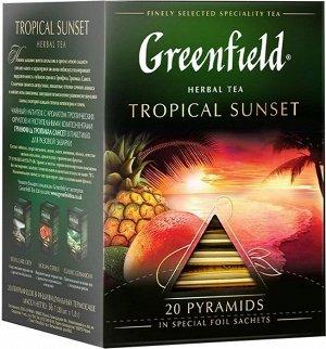Черный чай в пирамидках Greenfield Tropikal Sunset, 20 шт