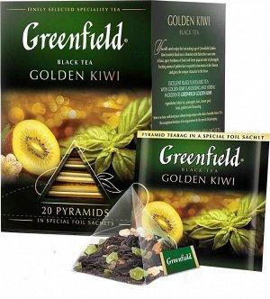 Черный чай в пирамидках Greenfield Golden Kiwi, 20 шт