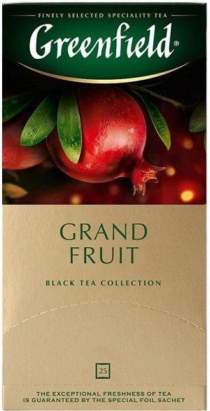 Черный чай в пакетиках Greenfield Grand Fruit, 25 шт
