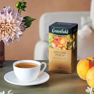 Зеленый чай в пакетиках Greenfield Peach Mellow, 25 шт