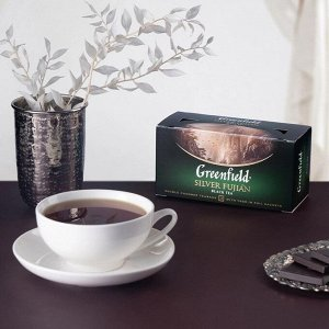 Черный чай в пакетиках Greenfield Silver Fujian, 25 шт