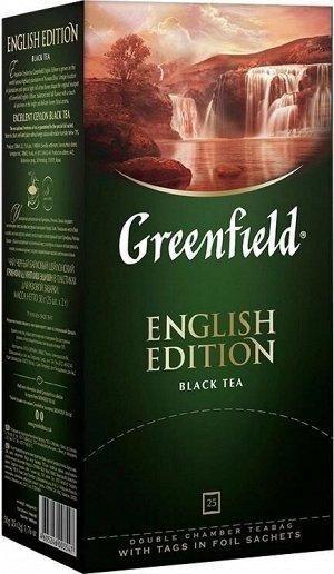 Черный чай в пакетиках Greenfield English Edition, 25 шт