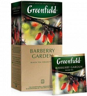 Черный чай в пакетиках Greenfield Barberry Garden, 25 шт