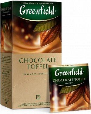 Черный чай в пакетиках Greenfield Chocolate Toffee, 25 шт