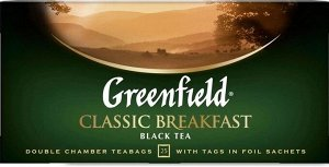 Черный чай в пакетиках Greenfield Classic Breakfast, 25 шт