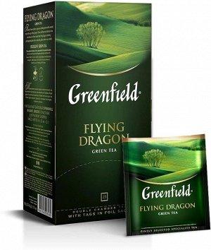 Зеленый чай в пакетиках Greenfield Flying Dragon, 25 шт