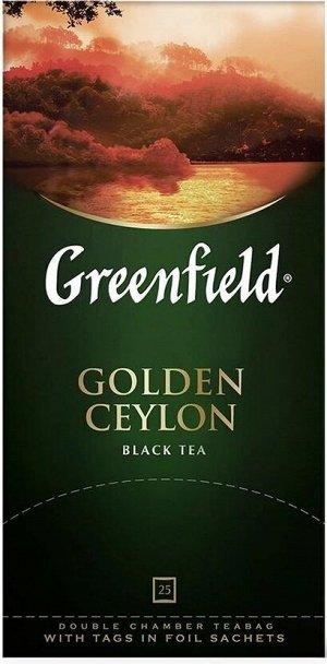 Черный чай в пакетиках Greenfield Golden Ceylon, 25 шт