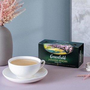 Зеленый чай в пакетиках Greenfield Japanese Sencha, 25 шт