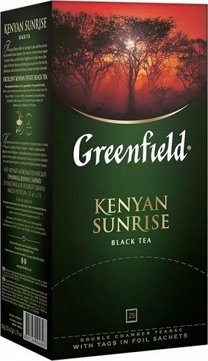 Черный чай в пакетиках Greenfield Kenyan Sunrise, 25 шт