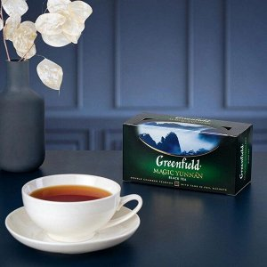 Черный чай в пакетиках Greenfield Magic Yunnan, 25 шт