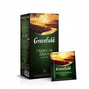 Черный чай в пакетиках Greenfield Premium Assam, 25 шт