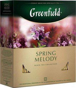 Черный чай в пакетиках Greenfield Spring Melody, 100 шт
