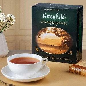 Черный чай в пакетиках Greenfield Classic Breakfast, 100 шт