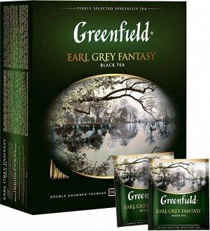 Черный чай в пакетиках Greenfield Earl Grey Fantasy ароматизированный, 100 шт