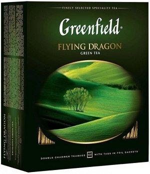 Зеленый чай в пакетиках Greenfield Flying Dragon, 100 шт