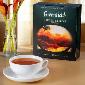 Черный чай в пакетиках Greenfield Golden Ceylon, 100 шт