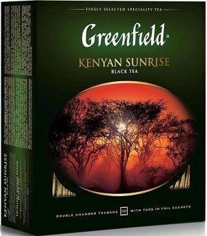 Черный чай в пакетиках Greenfield Kenyan Sunrise, 100 шт