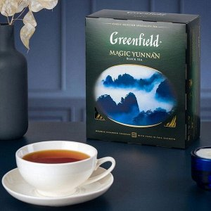 Черный чай в пакетиках Greenfield Magic Yunnan, 100 шт