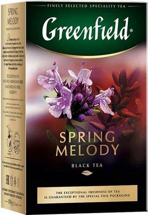 Черный чай листовой Greenfield Spring Melody, 100 г