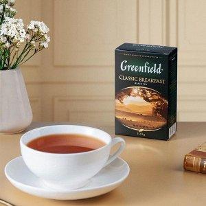 Черный чай листовой Greenfield Classic Breakfast, 100 г