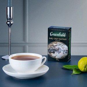 Черный чай листовой Greenfield Earl Grey Fantasy, 100 г