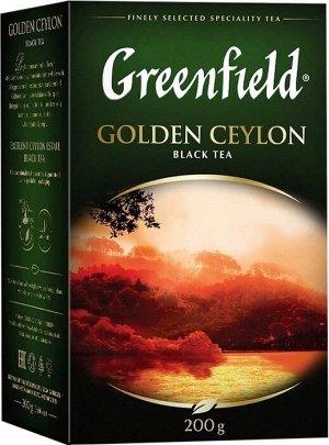 Черный чай листовой Greenfield Golden Ceylon, 200 г