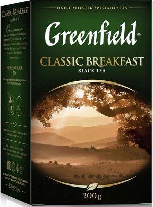 Черный чай листовой Greenfield Classic Breakfast, 200 г