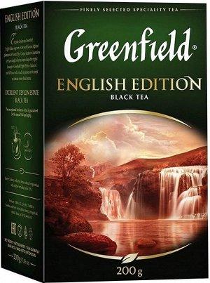 Чай черный листовой Greenfield English Edition, 200 г