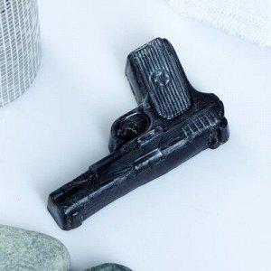 """Мыло фигурное """"Пистолет"""" чёрный 65 г"""