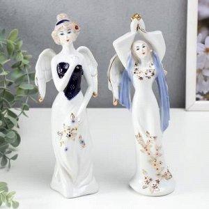 """Сувенир керамика """"Ангел-девушка"""" 22х8х6 см, МИКС"""