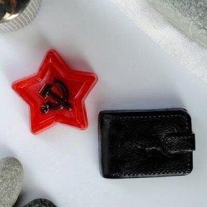 """Набор мыла фигурного""""23 февраля: Портмоне + звезда"""""""