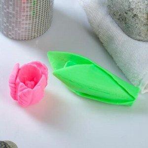 """Мыло фигурное """"Тюльпан на ножке"""" розовый, 90гр"""