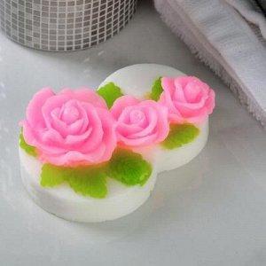 """Фигурное мыло """"Восьмерка с розами"""" 75гр"""