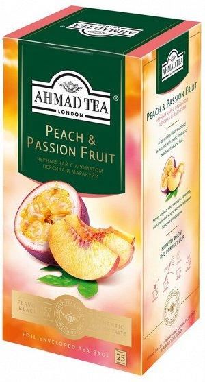 """Чай Ахмад """"Ahmad Tea"""", Персик-Маракуйя, 25 пак"""