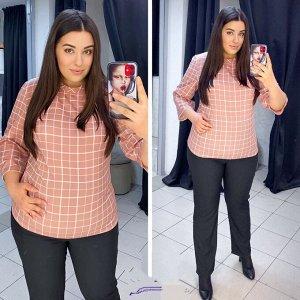 Костюм Материал: Блуза - софт, брюки - барби