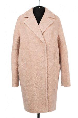 01-10275 Пальто женское демисезонное вареная шерсть пудра
