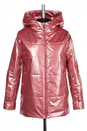 04-2687 Куртка демисезонная (синтепон 100) Плащевка Розово-коралловый