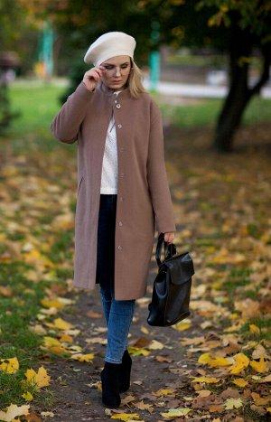 Пальто Пальто Euro Moda 314  Состав: Пальто: ПЭ-68%; Эластан-5%; Шерсть-27%; Подкладка: ПЭ-100%; Сезон: Осень-Зима Рост: 164  Пальто женское свободного кроя, О-образного силуэта. Изделие выполнено из