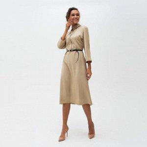 Платье женское MINAKU  цвет бежевый, р-р 42