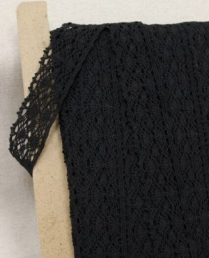 Кружево цв.черный, ш.37мм, хлопок-90%, п/э-10%