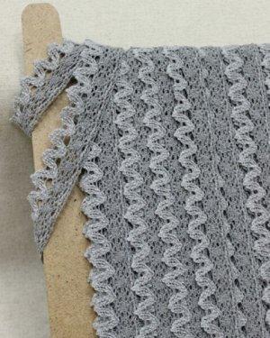 Кружево цв.темно-серый/серый, ш.26мм, хлопок-90%, п/э-10%