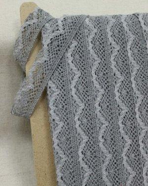 Кружево цв.темно серый/серый, ш.30мм, хлопок-90%, п/э-10%
