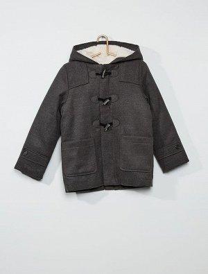 Длинное пальто-бушлат