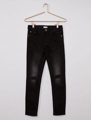 Узкие джинсы Eco-conception с эффектом поношенности
