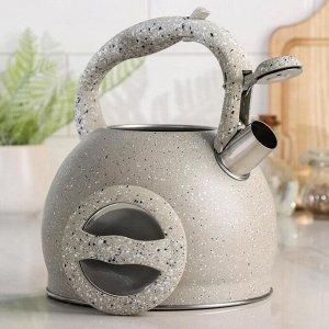 Чайник со свистком «Мрамор», 3 л