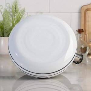 Чайник со свистком Circles, белый