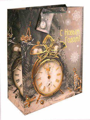Бумажный пакет Часы-ретро