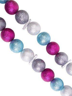 Новогодняя гирлянда Большие разноцветные шары, 170x4,5x4