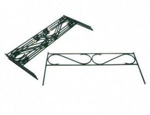 Ограждение декоративное, 5 секций, с заглушками, металл